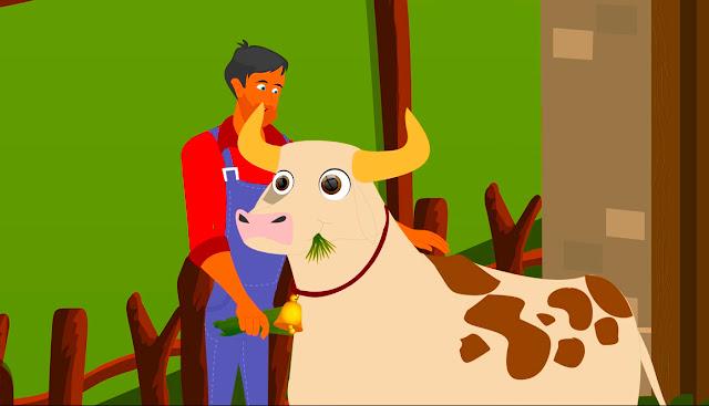 البقرة السحرية للاطفال مكتوبة