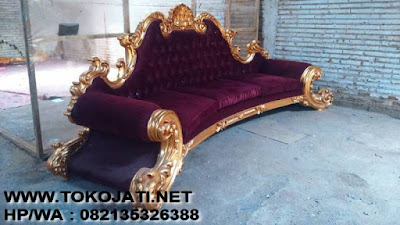 SOFA JATI UKIRAN JEPARA MODEL CLASSIC FRENCH GOLDLEAF MEWAH