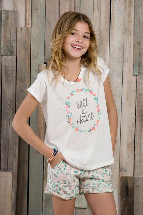 Remeras y shorts moda para nenas primavera verano 2018. Moda 2018.