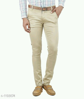 Men's Comfy Denim Solid Trousers