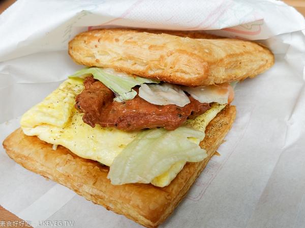 素YA蔬食館|台中大里平價素食早餐|吐司漢堡可頌|近立新國小