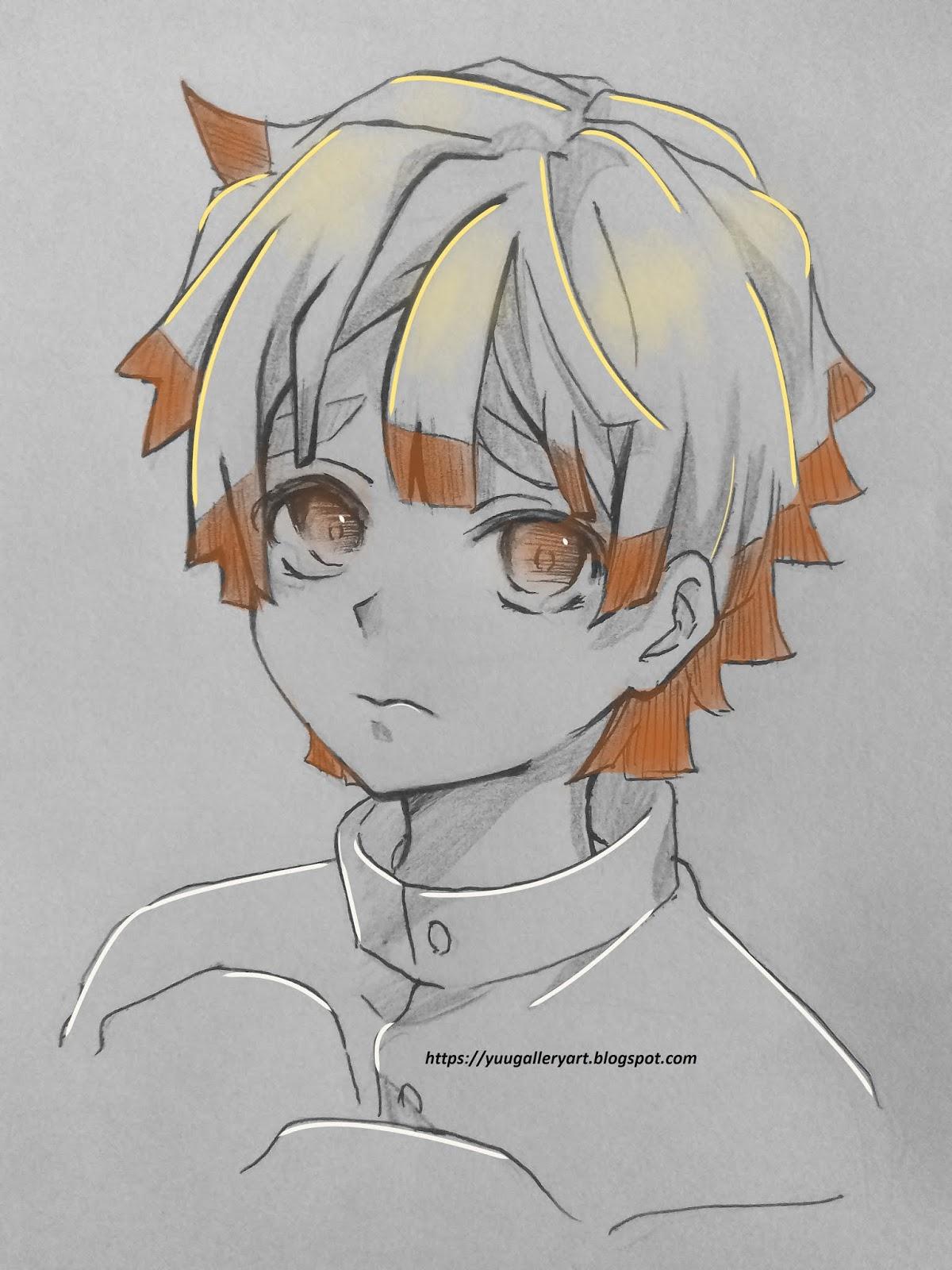 Draw Zenitsu Agatsuma Kimetsu No Yaiba
