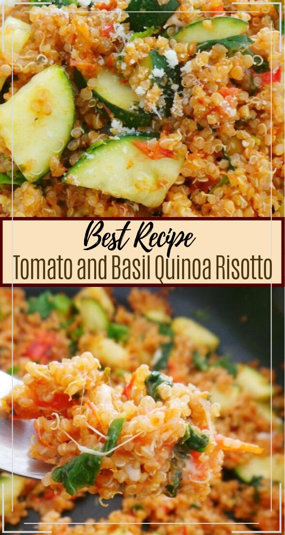 Tomato and Basil Quinoa Risotto #healthyfood #dietketo #breakfast #food