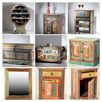 Recycled wood furniture image