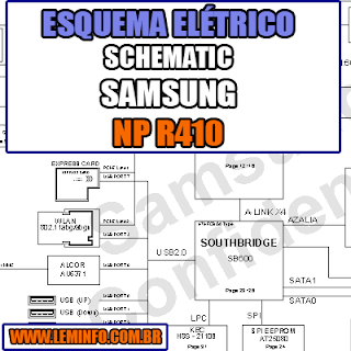 Esquema Elétrico Notebook Samsung NP R410 Laptop Manual de Serviço  Service Manual schematic Diagram Notebook Samsung NP R410 Laptop   Esquematico Notebook Placa Mãe Samsung NP R410 Laptop