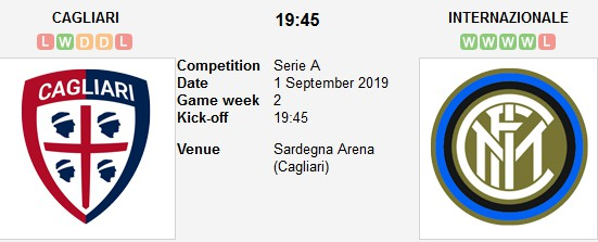 مشاهدة مباراة انتر ميلان وكالياري بث مباشر بتاريخ 01-09-2019 الدوري الايطالي