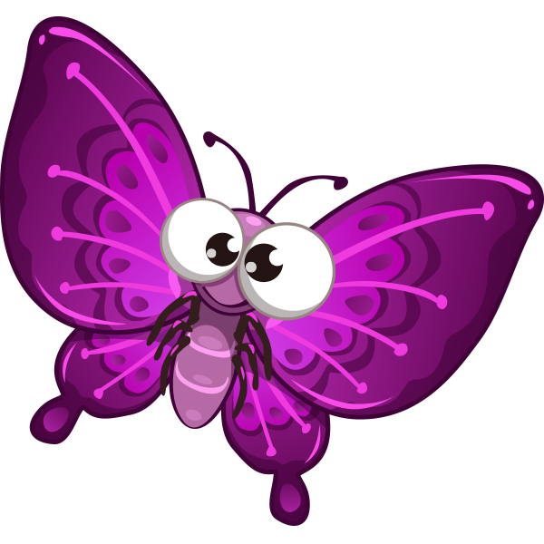 Purple Butterfly Emoticon