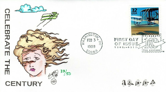 FDC Commemorating Kitty Hawk Stamp From Celebrate The Century