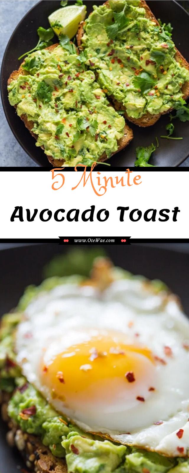 5 Minute Avocado Toast