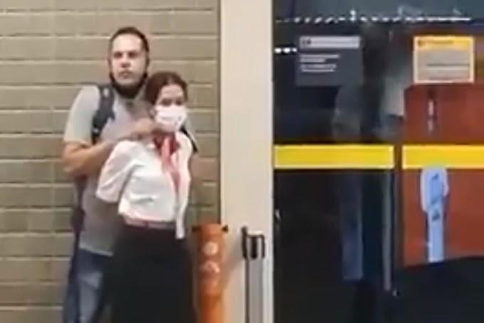 Vídeo: Homem faz funcionária da Gol de refém na área de embarque de Guarulhos