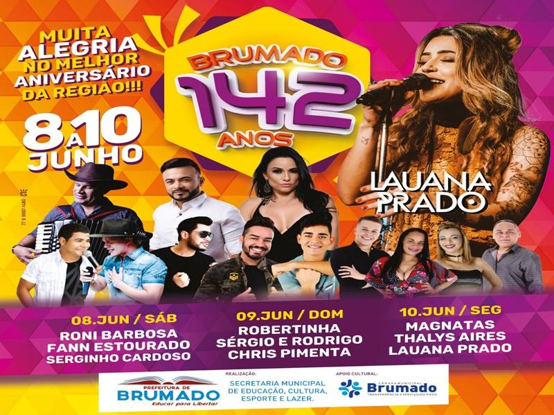 Prefeitura de Brumado divulga programação completa da festa de Aniversário do município
