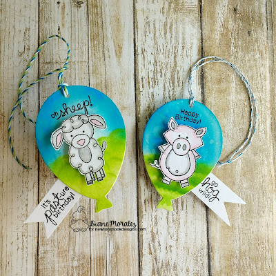Farmyard Friends a Tag by Diane Morales |  Farmyard Friends Stamp Set by Newton Nook Designs