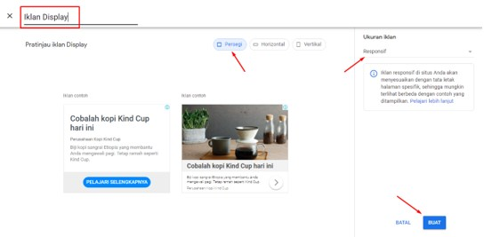 Membuat Iklan Display Google Adsense