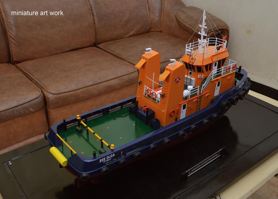 maket souvenir miniatur kapal tugboat tb sse olga rumpun artwork planet kapal indonesia
