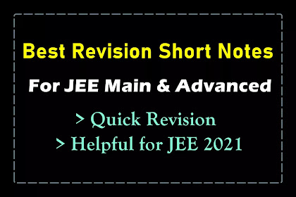 [PDF] Best Handwritten Short Notes for JEE Mains and Advanced | Quick Revision