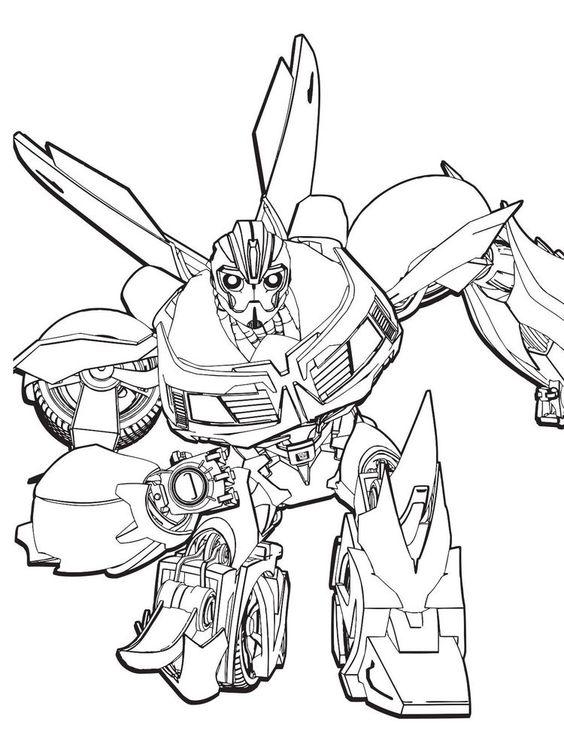 Tranh tô màu Transformers người máy biến hình 8