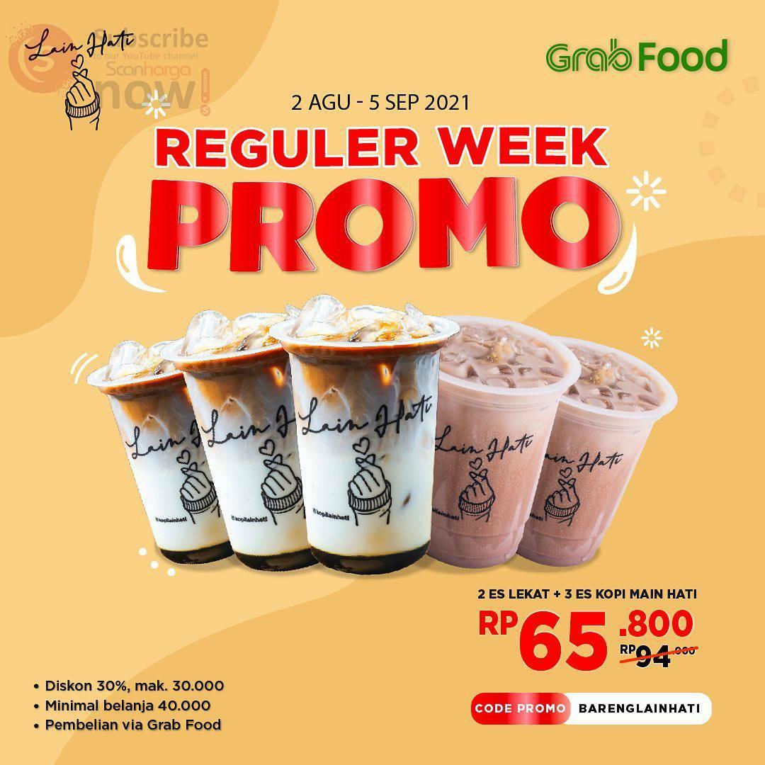 Kopi Lain Hati Reguler Week Promo Grabfood Diskon 30%