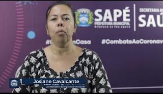 Em pronunciamento Joseane  Coordenadora da Vigilância, Epidemiológica de Sapé PB confirma primeira morte por Covid-19