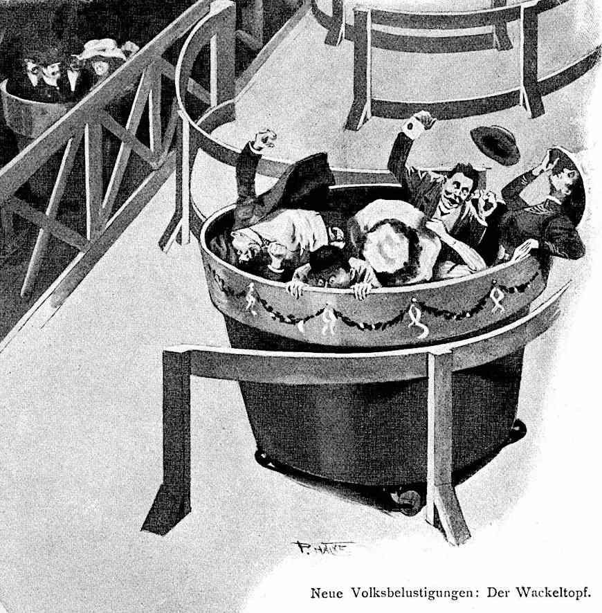 the Wackeltopf amusement ride 1910