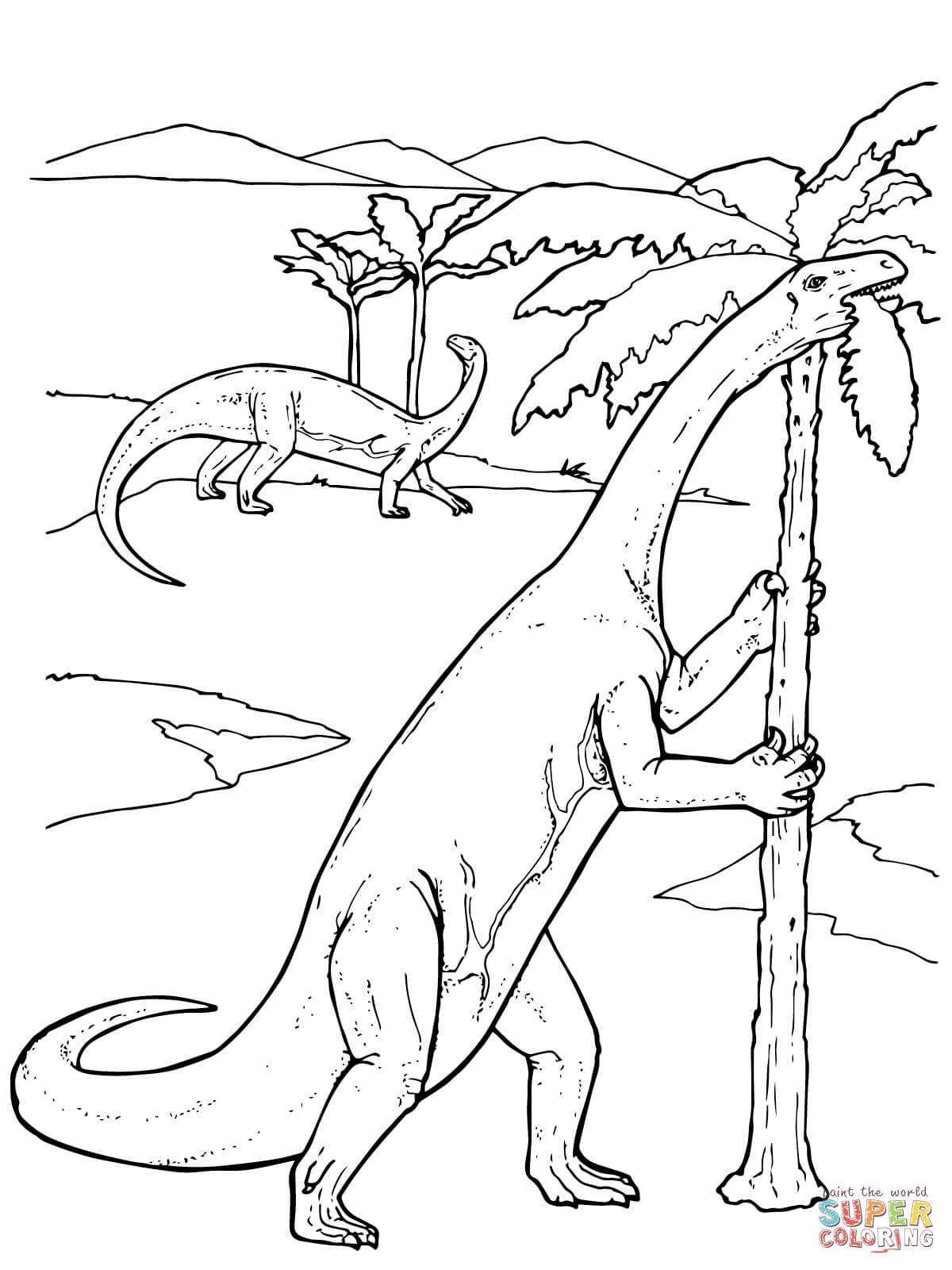 maiasaura pages coloring pages