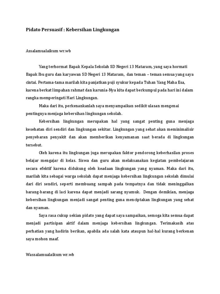 Pidato Persuasif Wood Scribd Indo