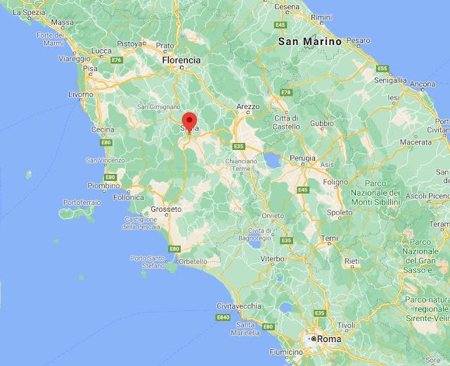dónde está Siena en Italia
