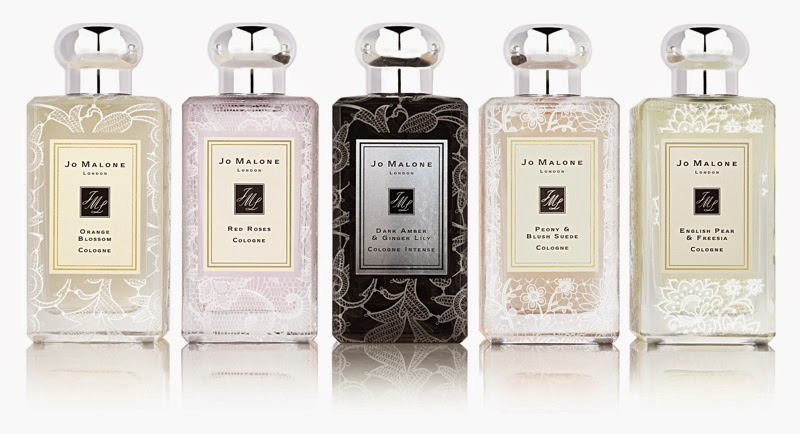 jo malone lace bottle collection the sunday girl. Black Bedroom Furniture Sets. Home Design Ideas