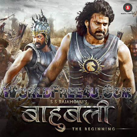 Poster Of Hindi Movie Baahubali: The Beginning 2015 Full FHD Movie Free Download 1080P Watch Online