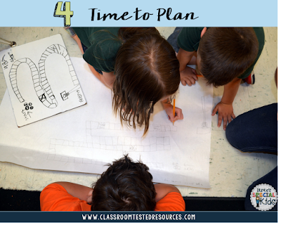 Creating math game boards on bulletin board paper
