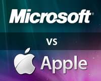 """Microsoft declara """"guerra"""" à Apple."""