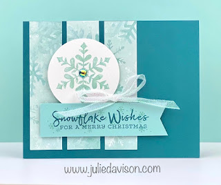 Stampin' Up! Snowflake Wishes Christmas Card ~ Aug-Dec 2020 Mini Catalog ~ www.juliedavison.com #stampinup