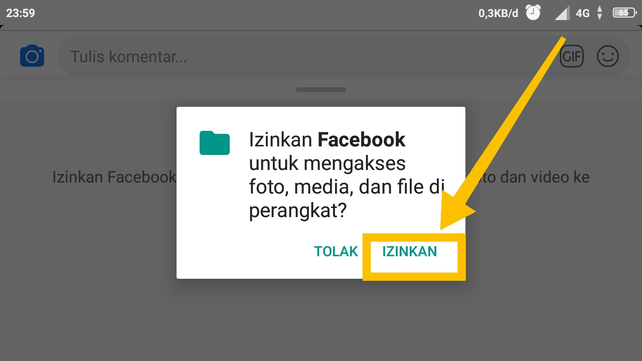 cara membuat komentar foto di facebook