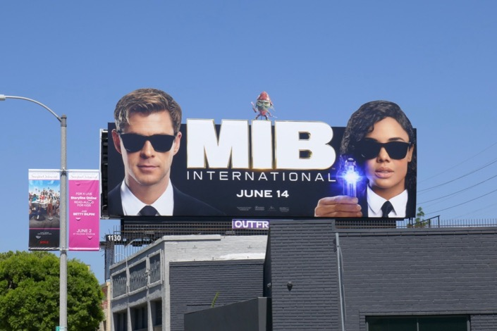 Men in Black International extension billboard