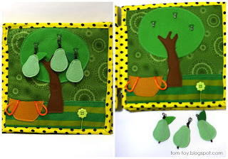 green Rainbow quiet book - children's fabric busy book, развивающая книжка