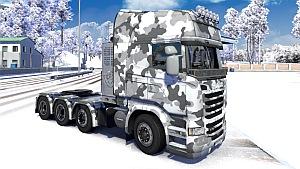 Army Winter Scania Streamline skin + trailer