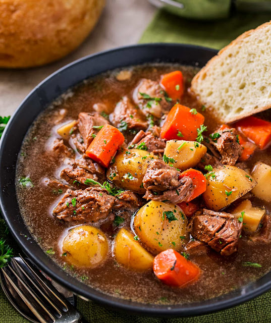 Crockpot Beef Stew (with Beer and Horseradish)