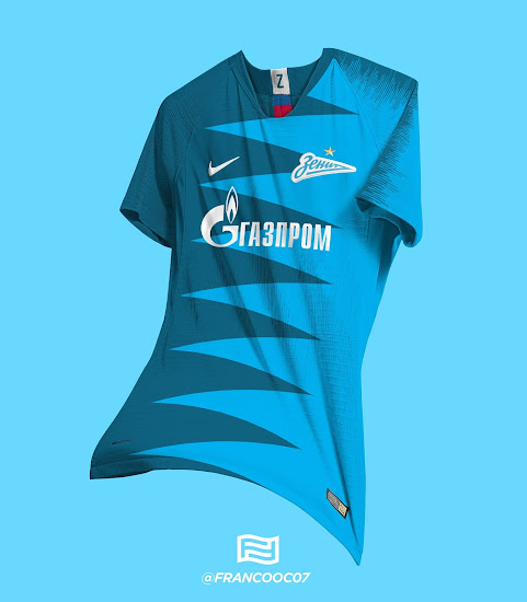 dcb33624158 Stunning Nike Zenit 18-19 Home   Away Kit Concepts by Franco ...