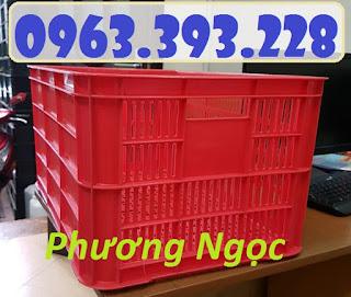 Sọt nhựa cao 31, sọt nhựa nan thẳng HS004, sóng nhựa công nghiệp 61x42x31...