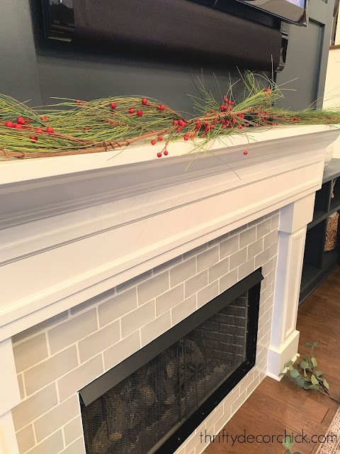 How to decorate mantel for Christmas