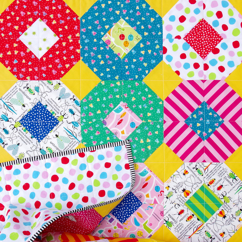 Bug City Kanas Dugout Quilt | Templates and Tutorial available | © Red Pepper Quilts 2018
