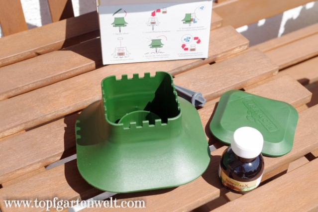 Falle für Schneckenkorn mit Lockstoff von Florissa - Gartenblog Topfgartenwelt