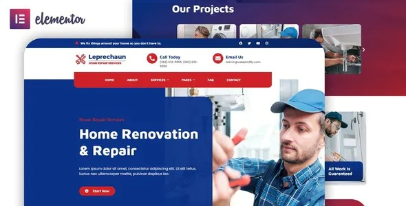 Best Home Repair Elementor Template Kit