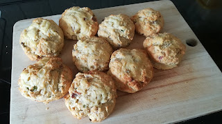 Cheese Bacon Onion Scones