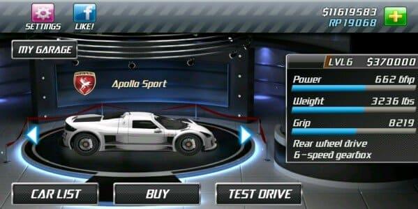 تحميل drag racing مهكرة