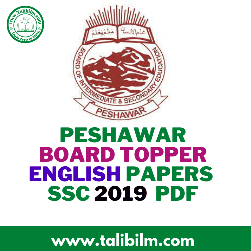 Peshawar Board Topper English Papers SSC
