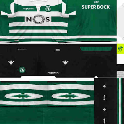PES 6 Kits Sporting Clube de Portugal Season 2018/2019 Dibu Edition