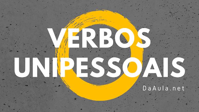 Língua Portuguesa: O que são Verbos Unipessoais