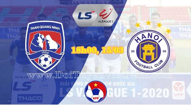 Trực tiếp Than Quảng Ninh vs Hà Nội FC (18h00, 15/03). Vòng 2 LS V.League 1 – 2020