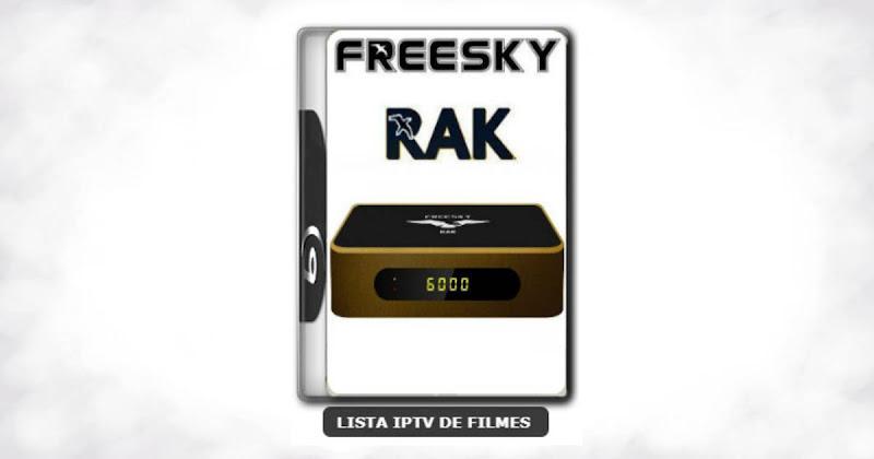 Freesky RAK Nova Atualização V2603 Melhorias no EPG, VOD, SKS e IKS