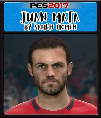 PES 2017 Juan Mata Face by Sameh Momen
